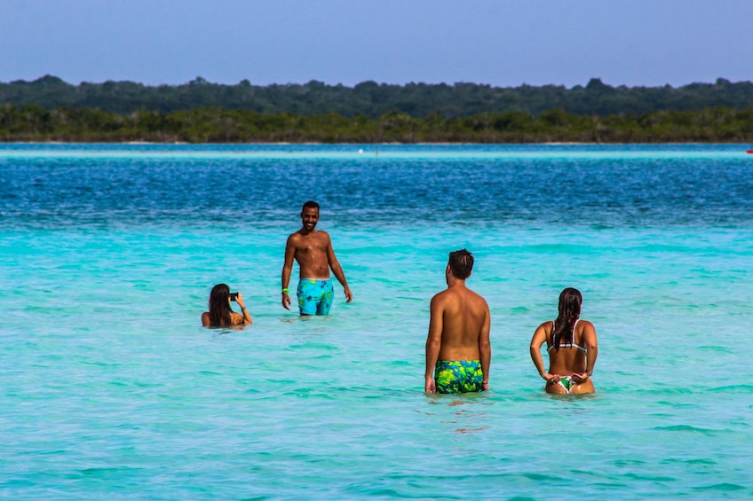 Show item 1 of 7. Bacalar 7 colors Lagoon Tour