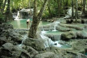 One day Erawan Waterfall Tour in Kanchanaburi