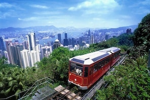 Peak Tram Sky Pass: Tram Ticket, Hong Kong Sky Tour and Sky Terrace 428 Ent...