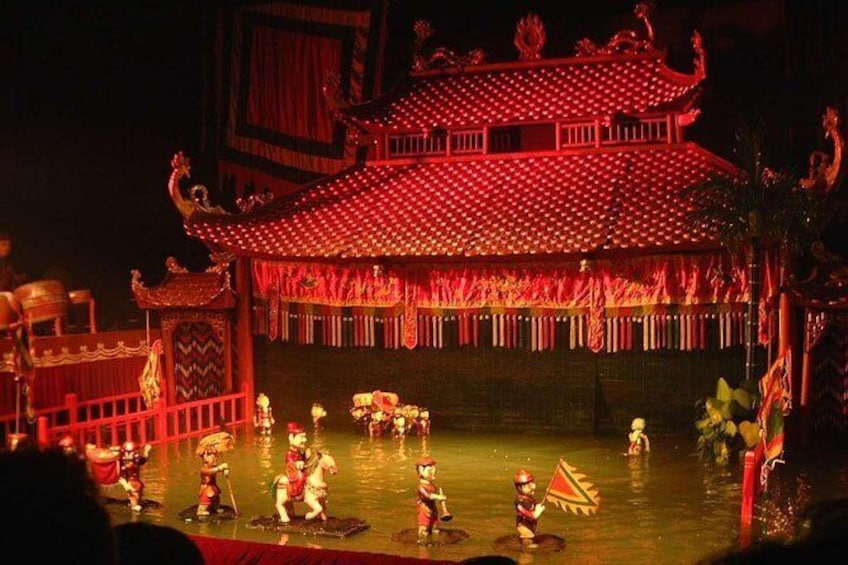 Show item 1 of 7. Skip the Line: Golden Dragon Water Puppet Show Entrance Ticket