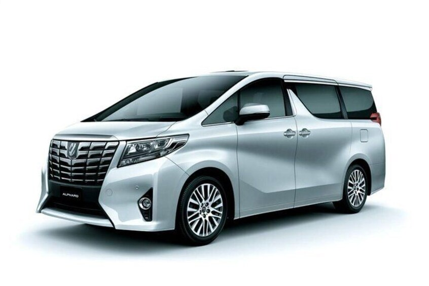 Toyota Alphard - upto 6 passengers travel in comfort.