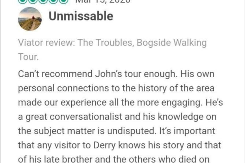Show item 4 of 23. The Troubles, Bogside Walking Tour.