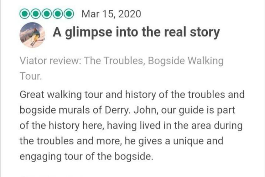 Show item 4 of 26. The Troubles, Bogside Walking Tour.