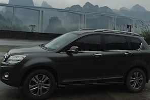 Private transfer from Fenghuang to Guilin and stops at Chengyang Dong Villa...