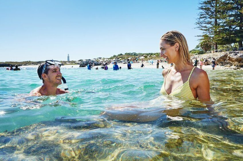 Swimming in one of Rottnest's bays