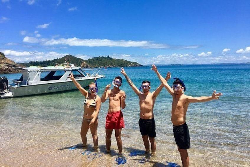 Show item 1 of 10. Bay of Islands Cruise & Island Tour - Snorkel, Hike, Swim, Paddleboard, Wildlife