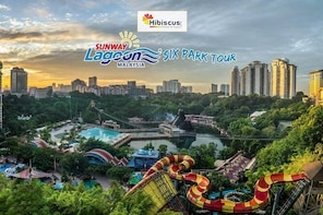Sunway Lagoon 6 Parks Tour with Transfers and a visit to a local Handicraft...