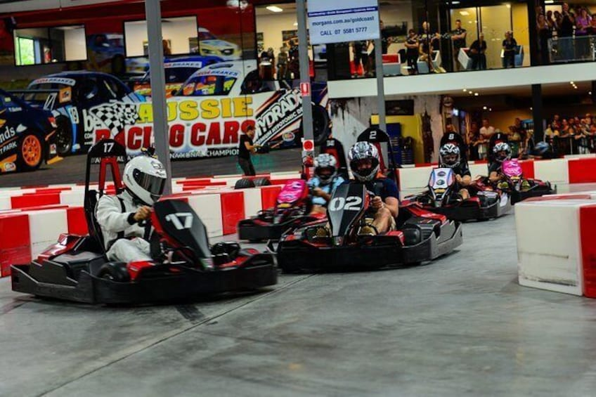 Show item 1 of 1. Indoor Go-Kart Racing at Game Over on the Gold Coast