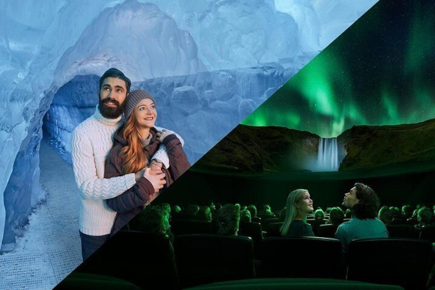 Explore the Wonders of Iceland exhibition, including a real ice cave. Then, experience the northern lights like never before, in Perlan's planetarium.