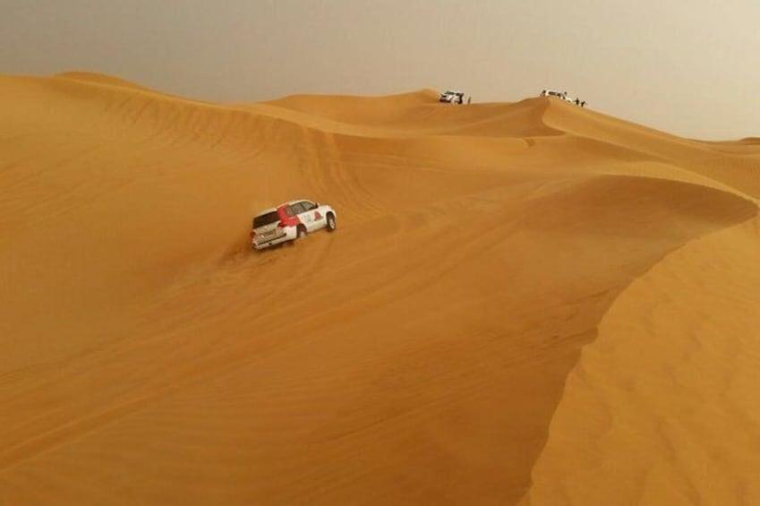 Show item 2 of 2. Guided Day Tour to Desert Safari-Dune Bashing with Dinner in Dubai