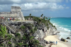 Full day tour to Tulum, Coba, Cenote and Playa del Carmen (4 places for 1 p...