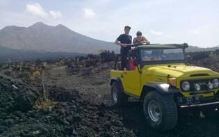 Batur Volcano 4x4 Jeep Tour: Black Lava Adventure