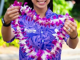 Classic Orchid Lei Greeting at Honolulu Airport