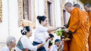 Private Morning Ceremony in Thai temple