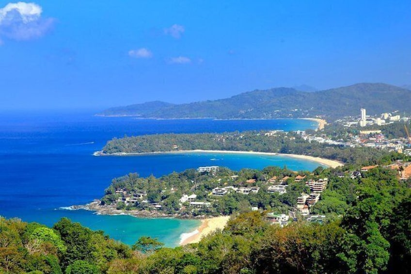 Show item 3 of 7. We visit a viewpoint high up, from where you will have an amazing view over Phuket island