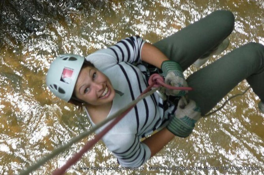 Show item 1 of 6. Abseiling over the beautiful River Wye