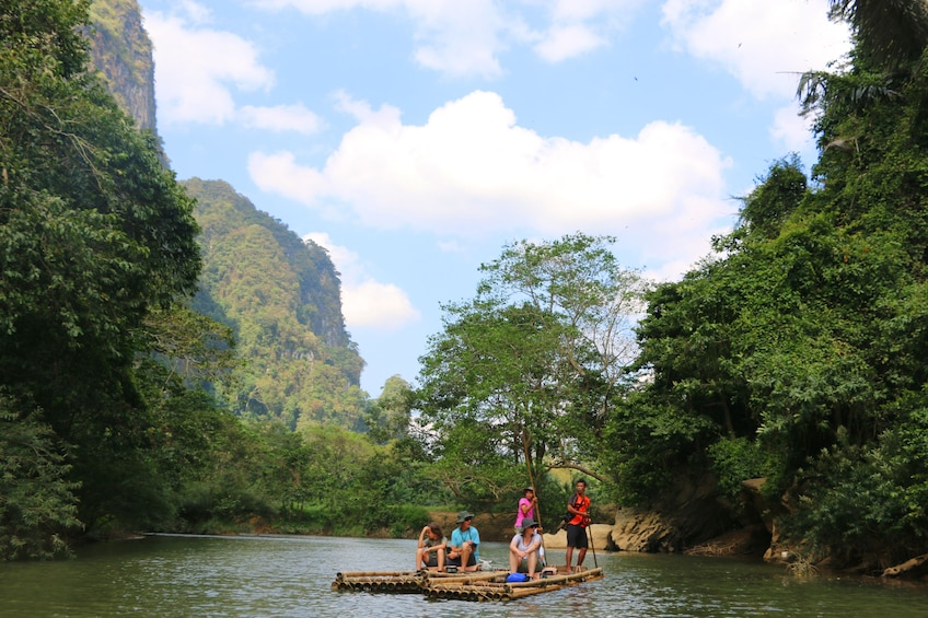 Show item 10 of 10. From Khao Lak: Full-Day Cheow Lan Lake with Cave Tour