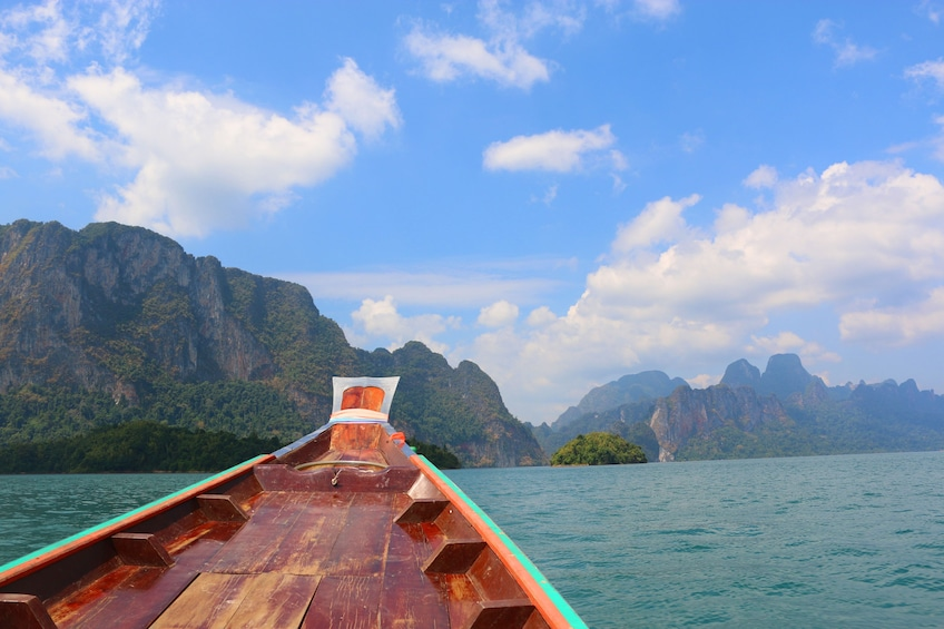 Show item 2 of 10. From Khao Lak: Full-Day Cheow Lan Lake with Cave Tour