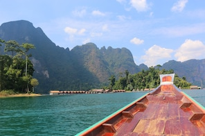 From Khao Lak: Full-Day Cheow Lan Lake with Cave Tour