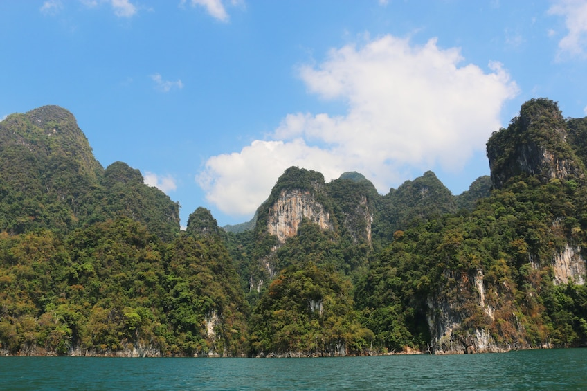 Show item 3 of 10. From Khao Lak: Full-Day Cheow Lan Lake with Cave Tour