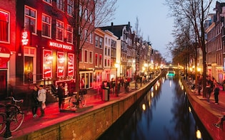 Amsterdam Red Light District self-guided tour in mobile app