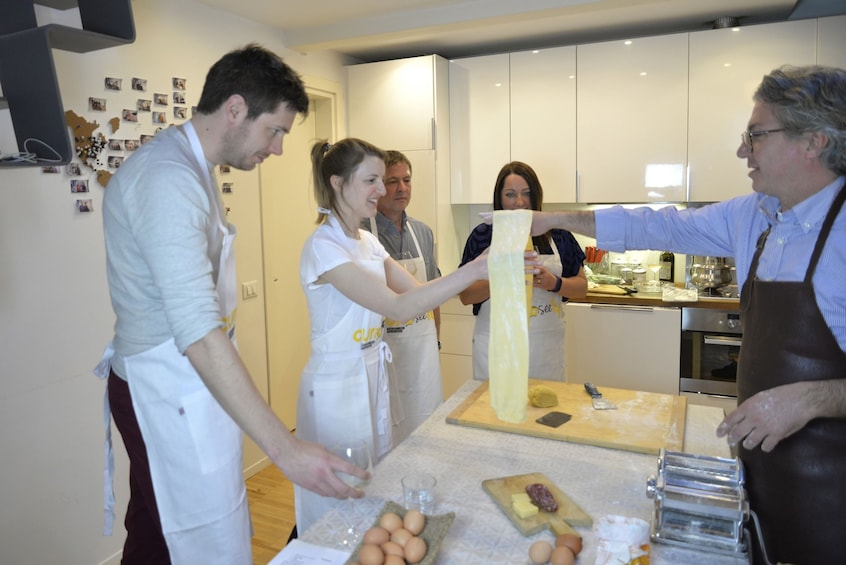 Show item 1 of 6. Homemade Pasta Class with a Local Chef in Genoa