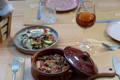 Included Dinner menu at Hairi, in Heraklion