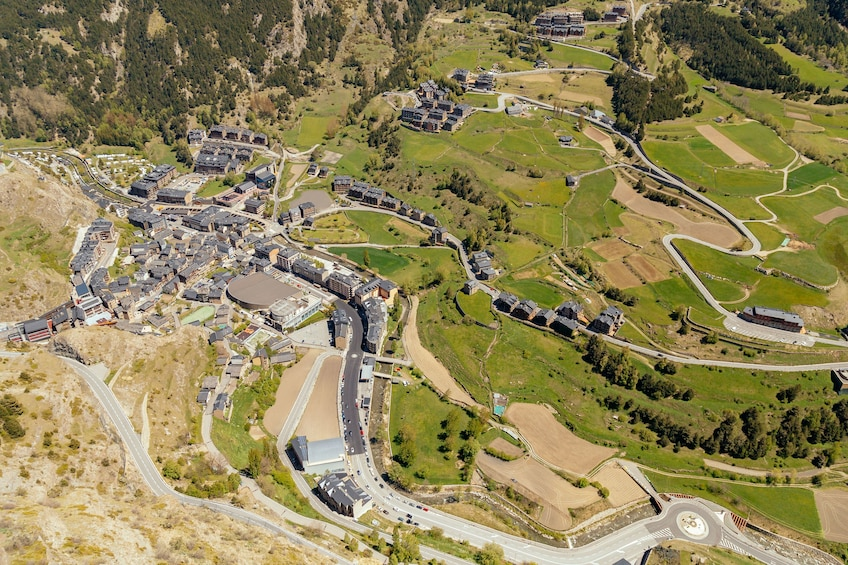 Show item 3 of 9. Aerial country view of Andorra