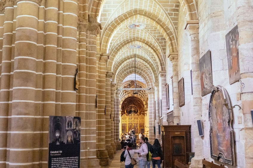 Show item 2 of 9. Inside a cathedral in Evora