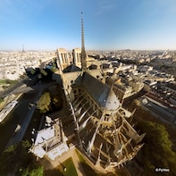 From Disneyland: Flyview, Audio Paris Tour & Lunch Cruise