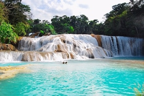 Waterfall of Agua Azul, Misol Ha and Palenque