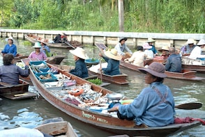 Maeklong Railway Market and Tha Kha Floating Market