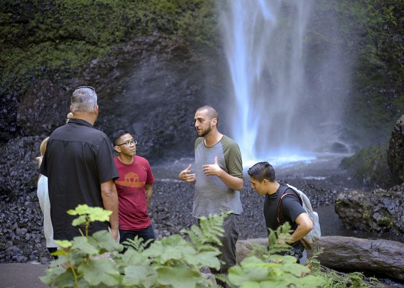 Show item 4 of 6. Visit Multnomah Falls, two waterfalls, & Vista House