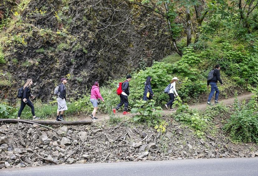 Show item 2 of 6. Visit Multnomah Falls, two waterfalls, & Vista House