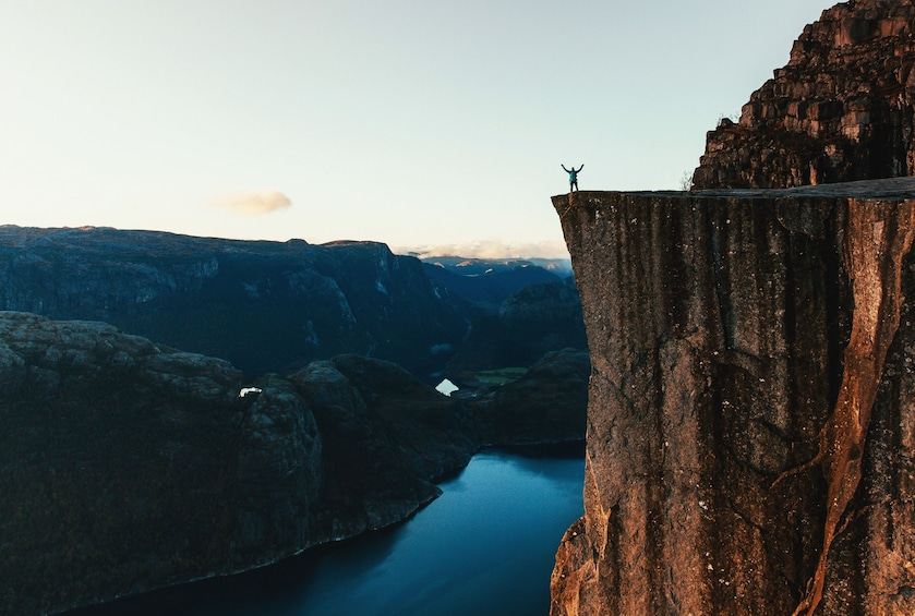 Show item 1 of 1. Guided hike to Pulpit Rock Preikestolen