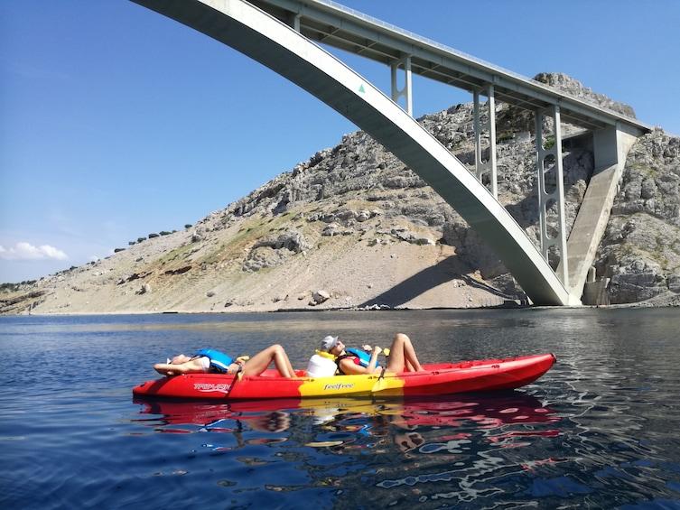 Show item 3 of 5. Krk bridge sea kayaking tour