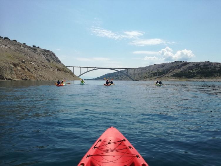 Show item 1 of 5. Krk bridge sea kayaking tour