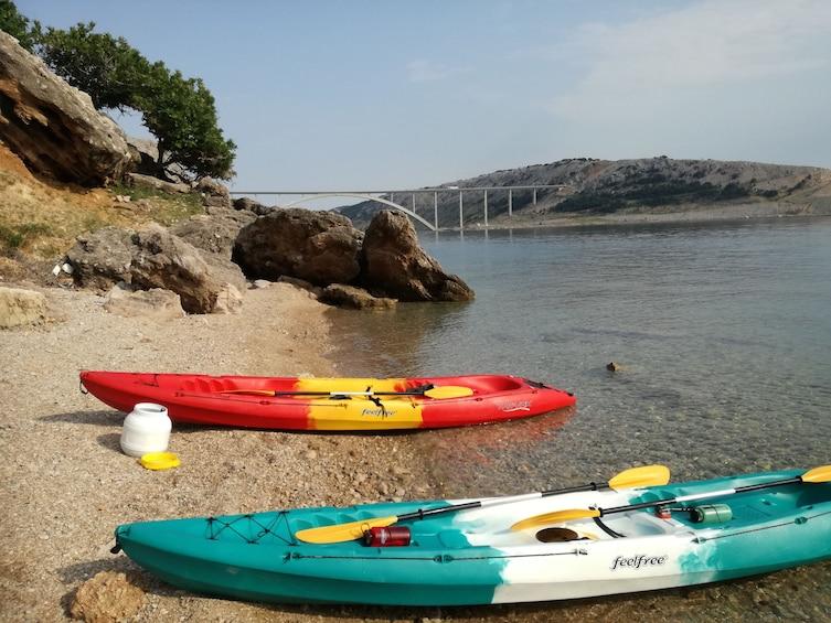 Show item 5 of 5. Krk bridge sea kayaking tour