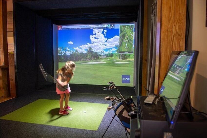 Show item 2 of 5. Indoor Golf Simulator