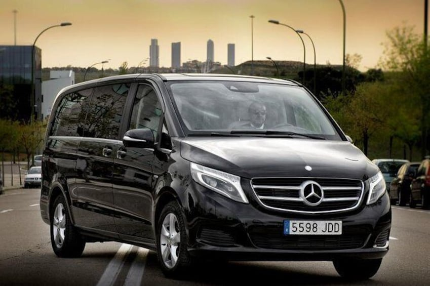 Ibiza Mercedes Benz Van with English Speaking Chauffeur
