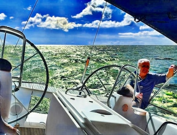 Take the helm of an ocean yacht