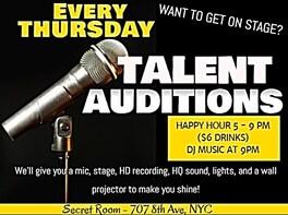 Secret Room Talent Exposure Thursdays