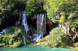 Plitvice Lakes National Park from Split or Sibenik/Vodice