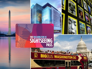 Sightseeing Pass with collage of images of Washington DC