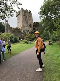 Woman visiting the Blarney Castle