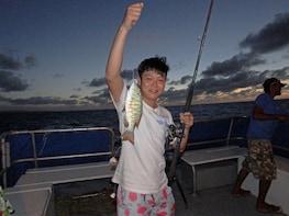 Sunset Bottom Fishing on board Eileen II