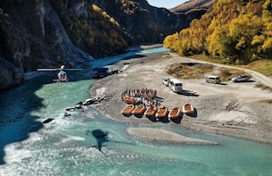 Shotover River Whitewater Rafting with Helicopter Ride