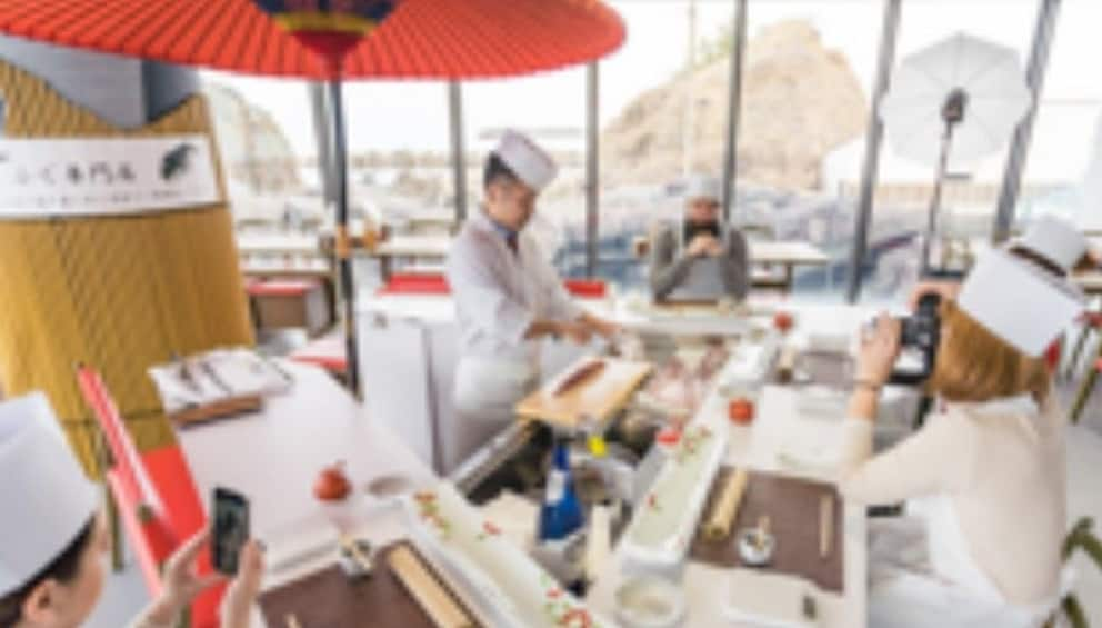 Show item 3 of 4. Sushi Workshop in the Kamo Aquarium