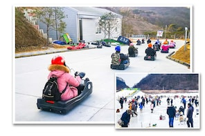 Suburbs Ice fishing + Luge ride (Super fun winter package)
