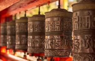 Talk on Buddhism by a monk-Gangtok